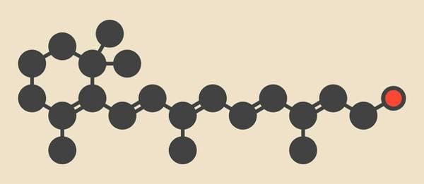 Vitamin Photograph - Retinol Molecule by Molekuul