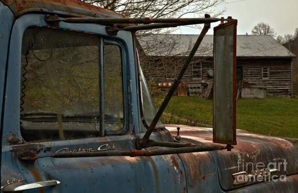 Photograph - Retired Ford F-600 On The Farm by Adam Jewell