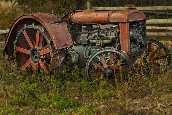 Photograph - Retired Fordson Tractor by Susan Candelario
