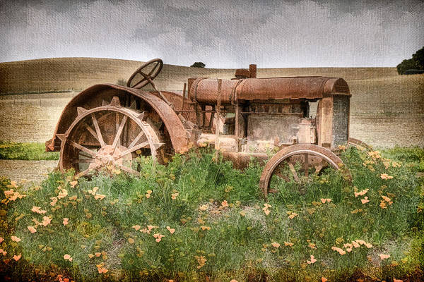 Relics Photograph - Retired In Poppies by Donna Kennedy