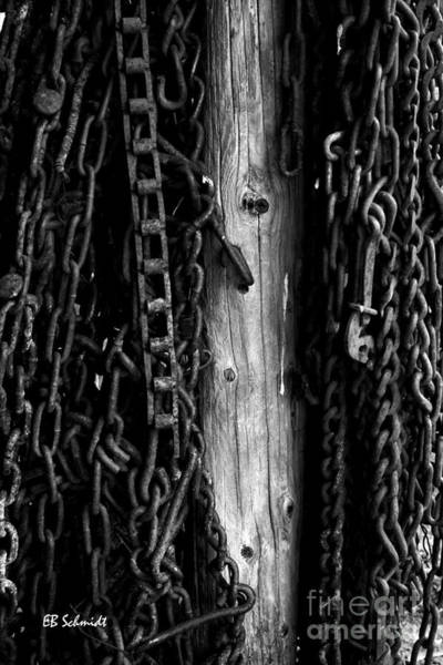 Photograph - Retired Machines 09 - Chains by E B Schmidt