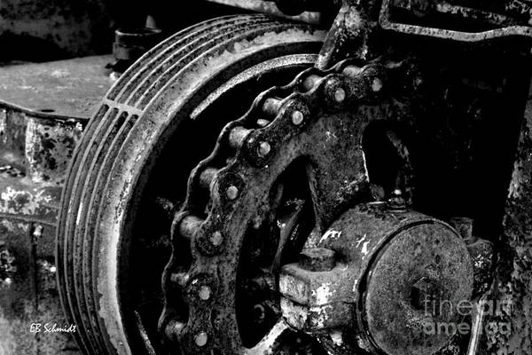 Photograph - Retired Machines 12 - Sprocket by E B Schmidt