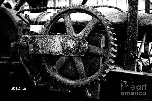Photograph - Retired Machines 14 - Cogwheel by E B Schmidt