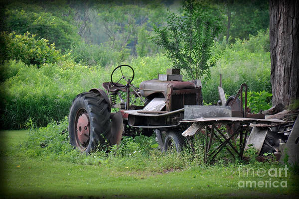 Photograph - Retired Old Tractor by Gary Keesler