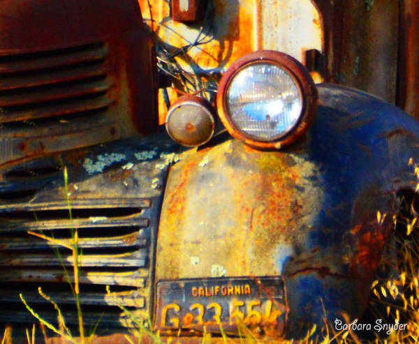 Photograph - Headlight On A Retired Relic by Barbara Snyder