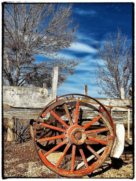 Wagon Photograph - Retirement Blues - U S 395 California by Glenn McCarthy Art and Photography