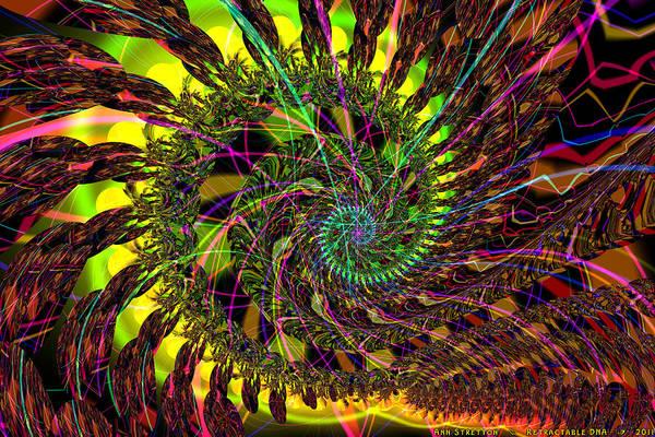 Digital Art - Retractable Dna  by Ann Stretton