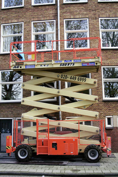 Lift Photograph - Retracted Scissor Lift by Chris Martin-bahr/science Photo Library