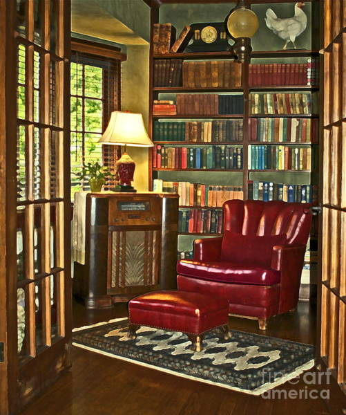 Book Shelf Photograph - Retreat by Gwyn Newcombe