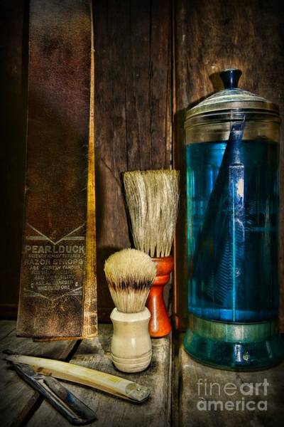 Ward Photograph - Retro Barber Tools by Paul Ward