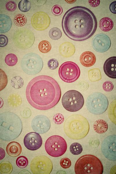 Wall Art - Photograph - Retro Button Love by Sharon Johnstone