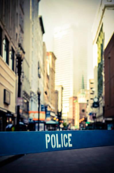 Restriction Photograph - Retro City Crime Scene by Mr Doomits