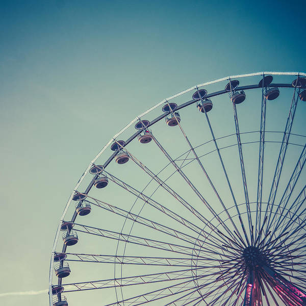 Fairground Photograph - Retro Ferris Wheel by Mr Doomits