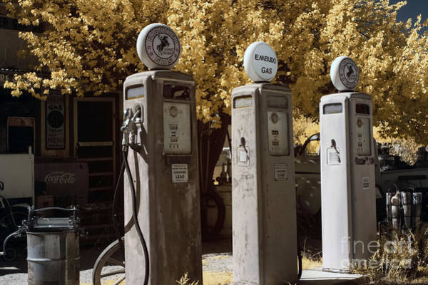 The Past Photograph - Retro Gas Pumps by Keith Kapple
