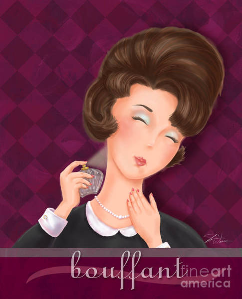 Pretty Mixed Media - Retro Hairdos-bouffant by Shari Warren