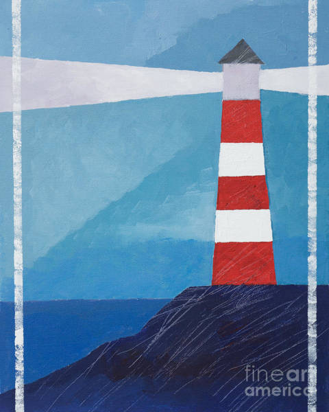 Painting - Retro Lighthouse by Lutz Baar