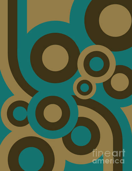 Wall Art - Digital Art - Retro Line Background by Isaac Marzioli
