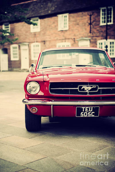 Ford Motor Company Photograph - Retro Mustang by Tim Gainey