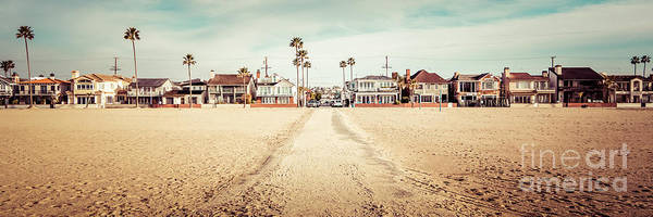 Oceanfront Photograph - Retro Newport Beach Panorama At 11th Street And Balboa by Paul Velgos