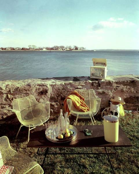 Outdoor Furniture Photograph - Retro Outdoor Furniture by Fred Lyon