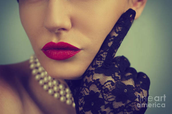 Mouth Wall Art - Photograph - Retro Portrait by Jelena Jovanovic