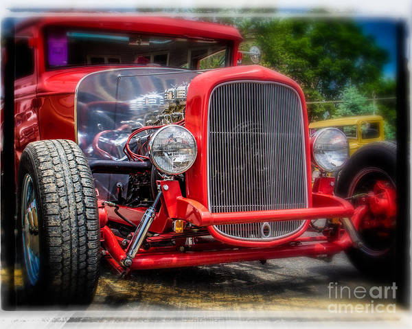 Wall Art - Photograph - Retro Red by Perry Webster