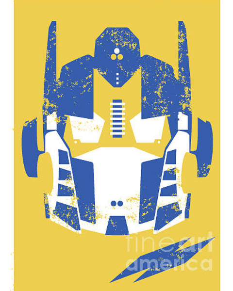 Wall Art - Digital Art - Retro Robot Headmask Illustration by Andy Fox