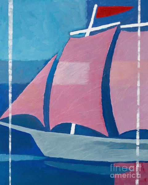 Painting - Retro Ship by Lutz Baar