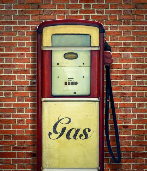 Wall Art - Photograph - Retro Vintage Gasoline Pump by Mr Doomits