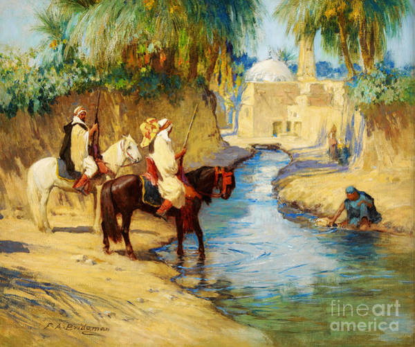 Sand Creek Painting - Return From The Hunt by Celestial Images