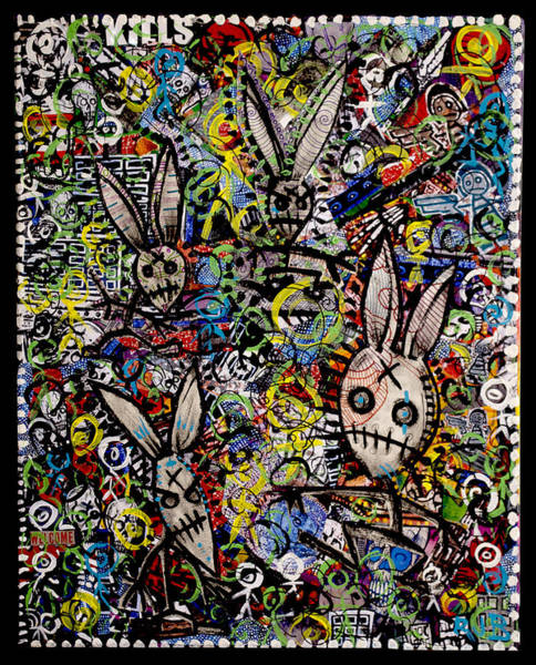 Wall Art - Painting - Return Of The Bunny Men        by Josh Brown