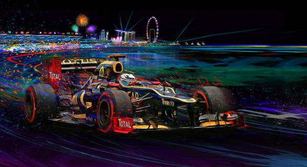 Racing Mixed Media - Return Of The Finn by Alan Greene