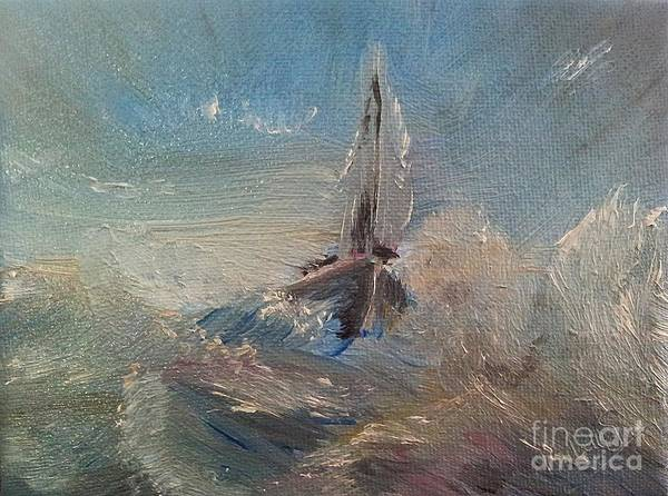 Wave Breaking Painting - Return To Shores by Abbie Shores