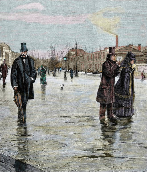Walking In The Rain Wall Art - Photograph - Returning From A Funeral by Prisma Archivo