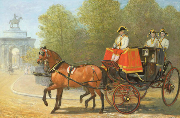 Royal Street Painting - Returning From Her Majestys Drawing Room by Alfred Corbould