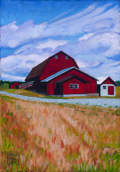 Wall Art - Painting - Reuble Barn Whidbey Island by Stacey Neumiller