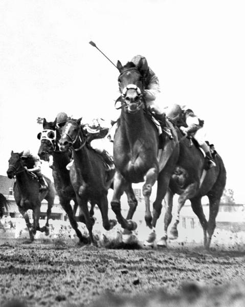 Photograph - Revel Step Wins Race by Underwood Archives