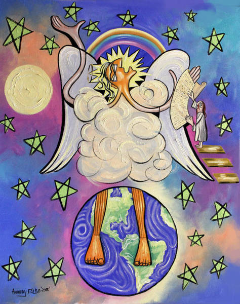 Painting - Revelation Chapter 10 by Anthony Falbo
