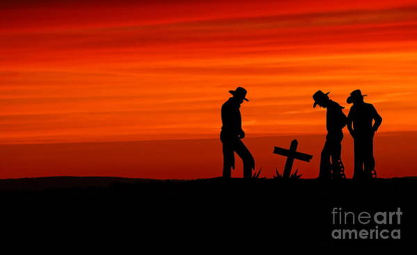 Art Print featuring the photograph Cowboy Reverence by Andrea Kollo