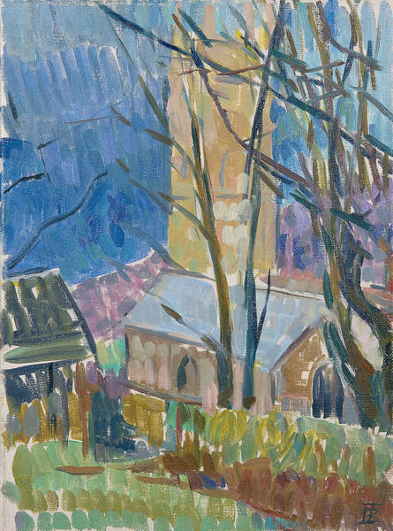 English Countryside Photograph - Reverend Hawkers Church At Morwenstow IIi Oil On Canvas by Erin Townsend