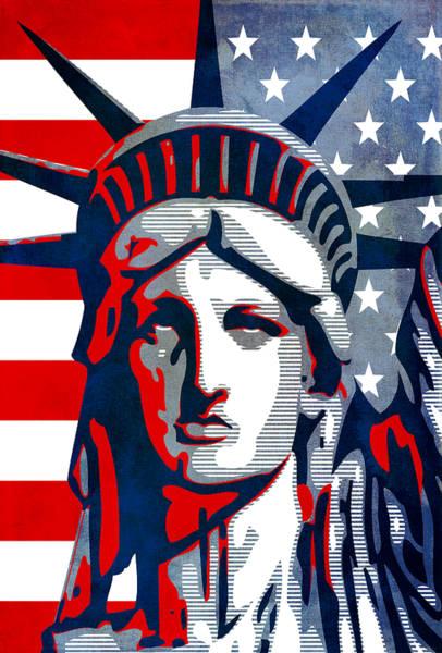 Mixed Media - Reversing Liberty 1 by Angelina Tamez