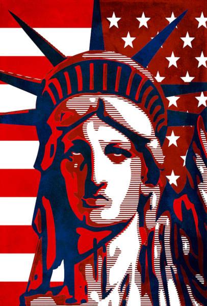 Wall Art - Mixed Media - Reversing Liberty 2 by Angelina Tamez