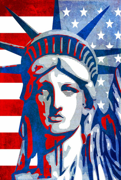 Wall Art - Mixed Media - Reversing Liberty 3 by Angelina Tamez