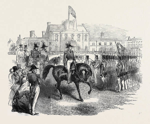 Royal Artillery Wall Art - Drawing - Review Of The Hon by English School
