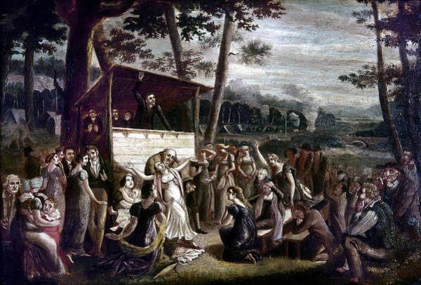 Wall Art - Painting - Revival Meeting, 1850 by Granger