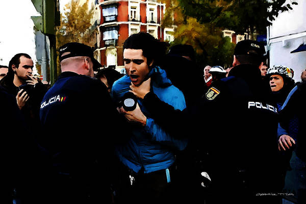 Journalist Digital Art - Revolution - Madrid 1 by Gabriel T Toro