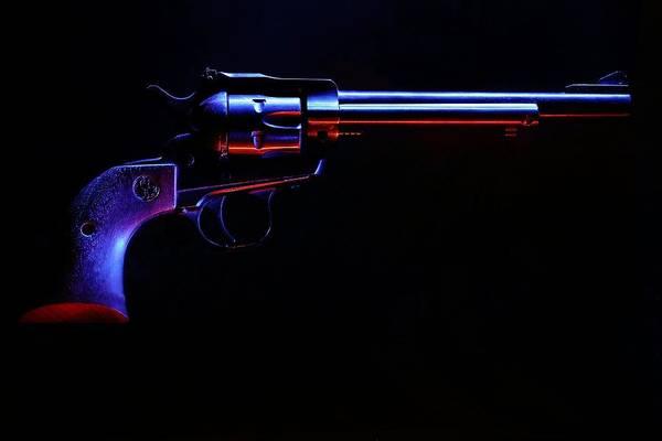 Photograph - Revolver On Black by David Andersen