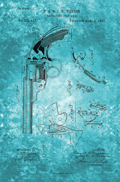 Painting - Revolving Fire Arm - Patented On 1885 by Celestial Images