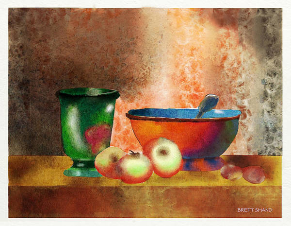 Reworking Of Chardin Art Print