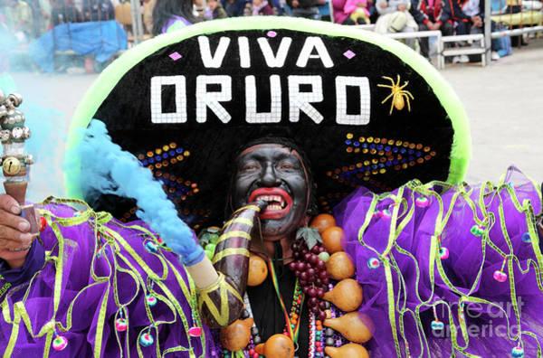 Photograph - Rey Moreno Oruro Carnival by James Brunker